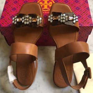Tory Burch Delaney Embellished Flat Sandals